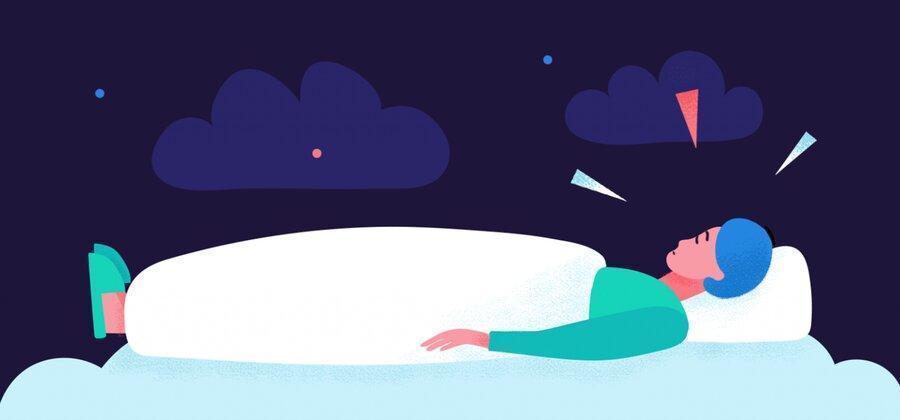 نکته بهداشتی ، خوابیدن در هنگام اضطراب